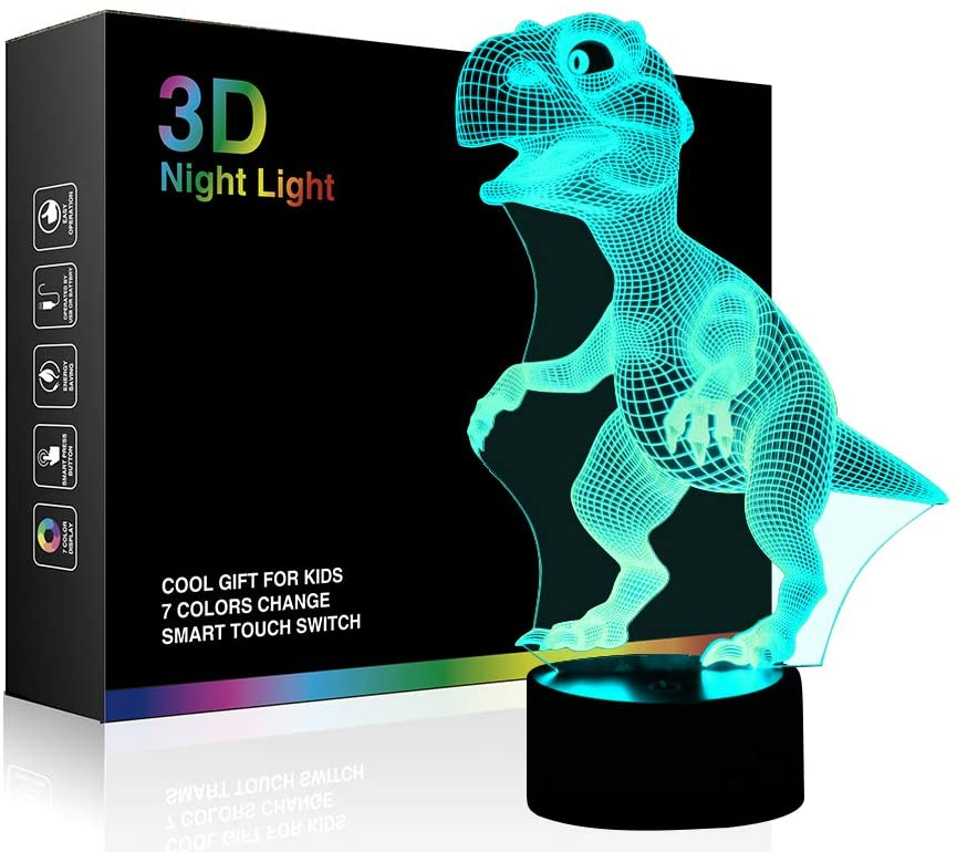 3D dinosaur night lamp 1