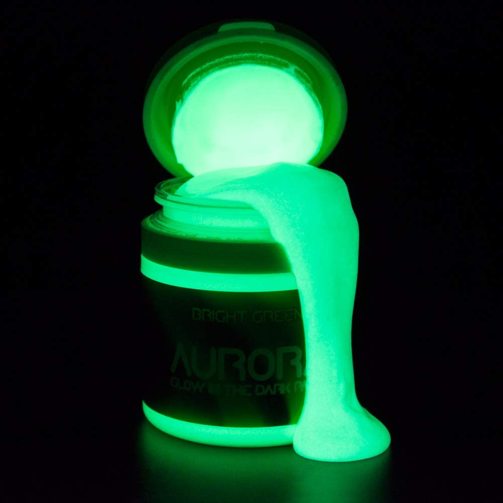 Aurora Glow In The Dark Green Paint review 1