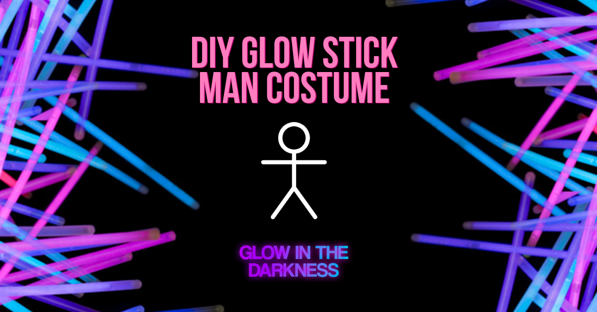 DIY glow stick man costume