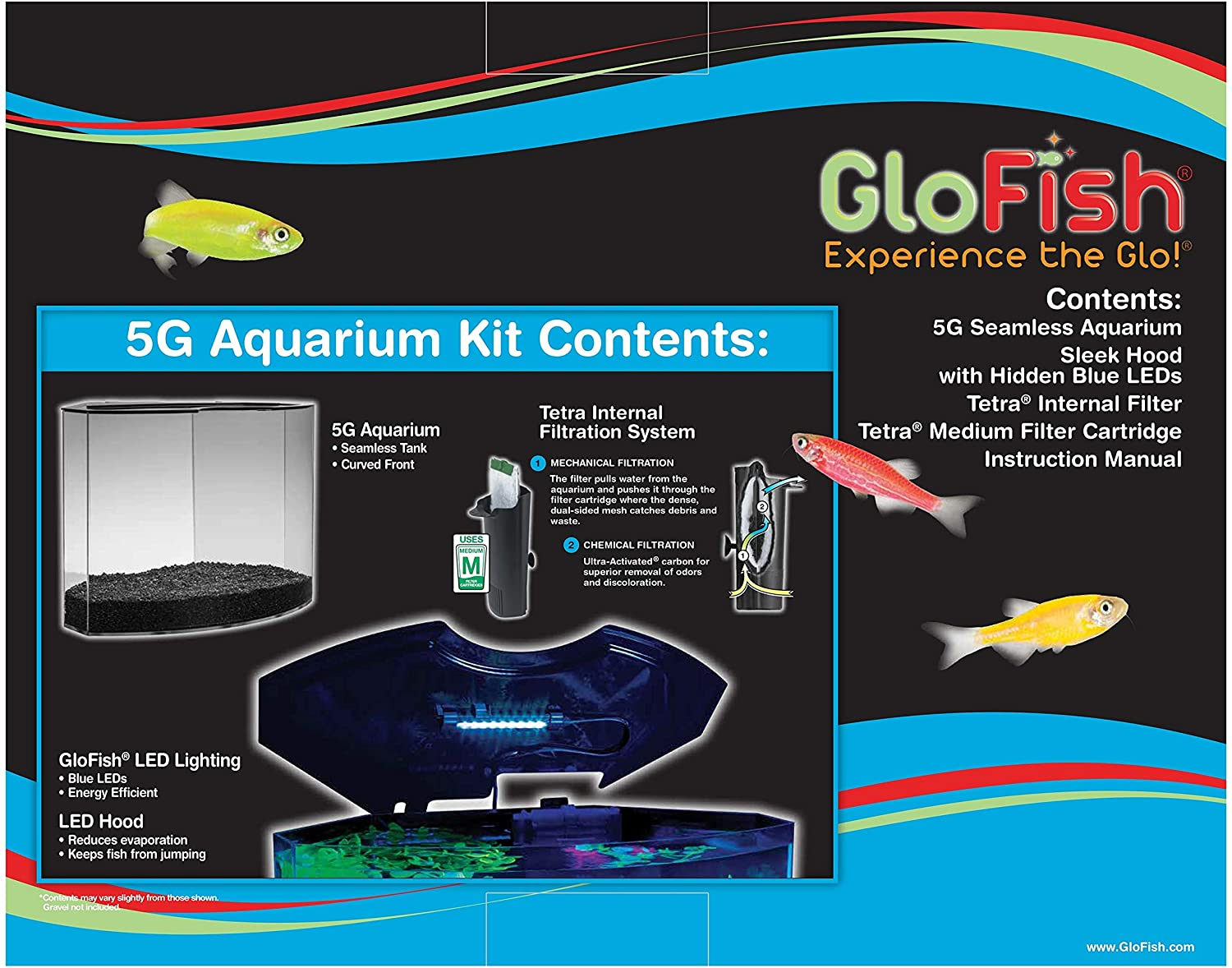 GloFish Glow In The Dark Fish tank 2