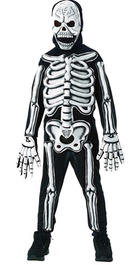 Glow in the dark skeleton costume halloween