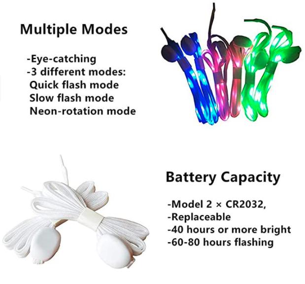 LKDEPO LED shoe laces 4