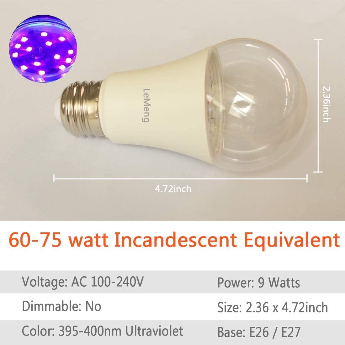 LeMeng LED Black Light Bulbs 2