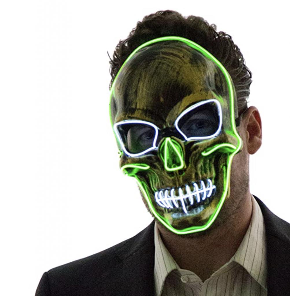 Neon skull mask Halloween
