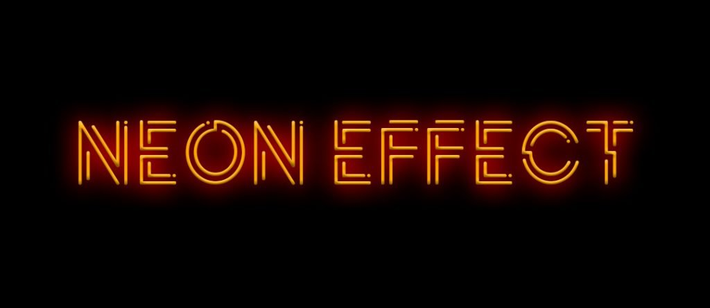 POTRA font neon effect