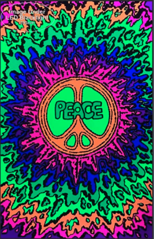 Psychedelic Peace Blacklight poster 2 1