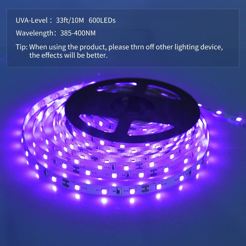 SHPODA 33ft LED black light Strip kit 2