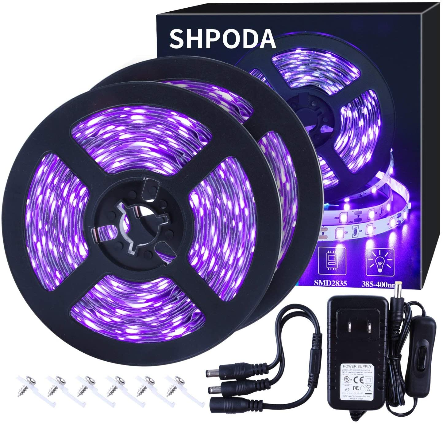 SHPODA 33ft LED black light strip kit review