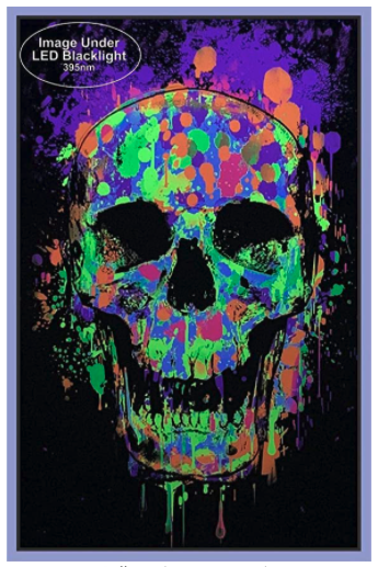 Splatter Skull Blacklight poster 2