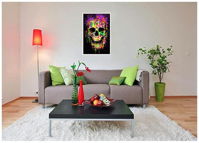 Splatter Skull Blacklight poster 3