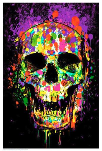 Splatter Skull Blacklight poster review