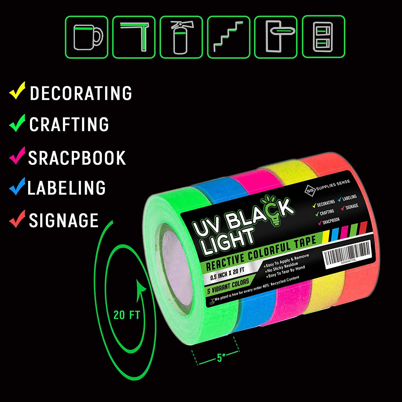 Supplies Sense Blacklight Tape 2