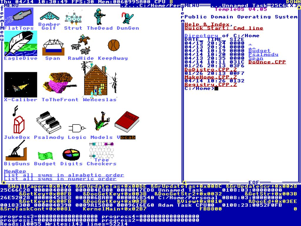Temple OS screen