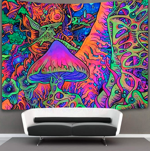 Trippy Mushrooms Blacklight poster review