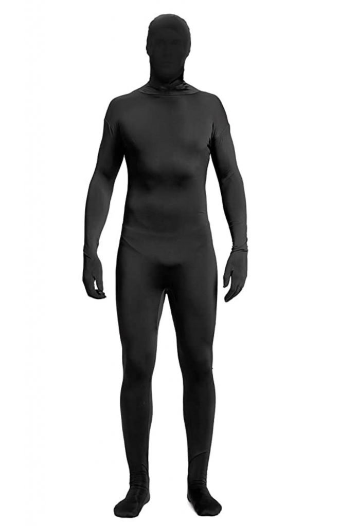 full body black bodysuit