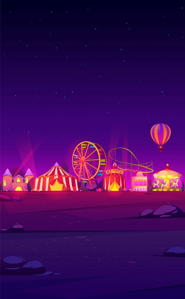 glow in the dark circus image