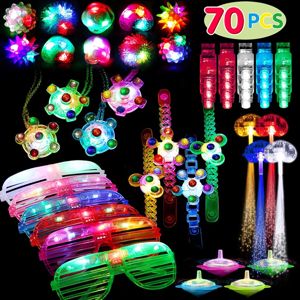 glow in the dark circus party favors
