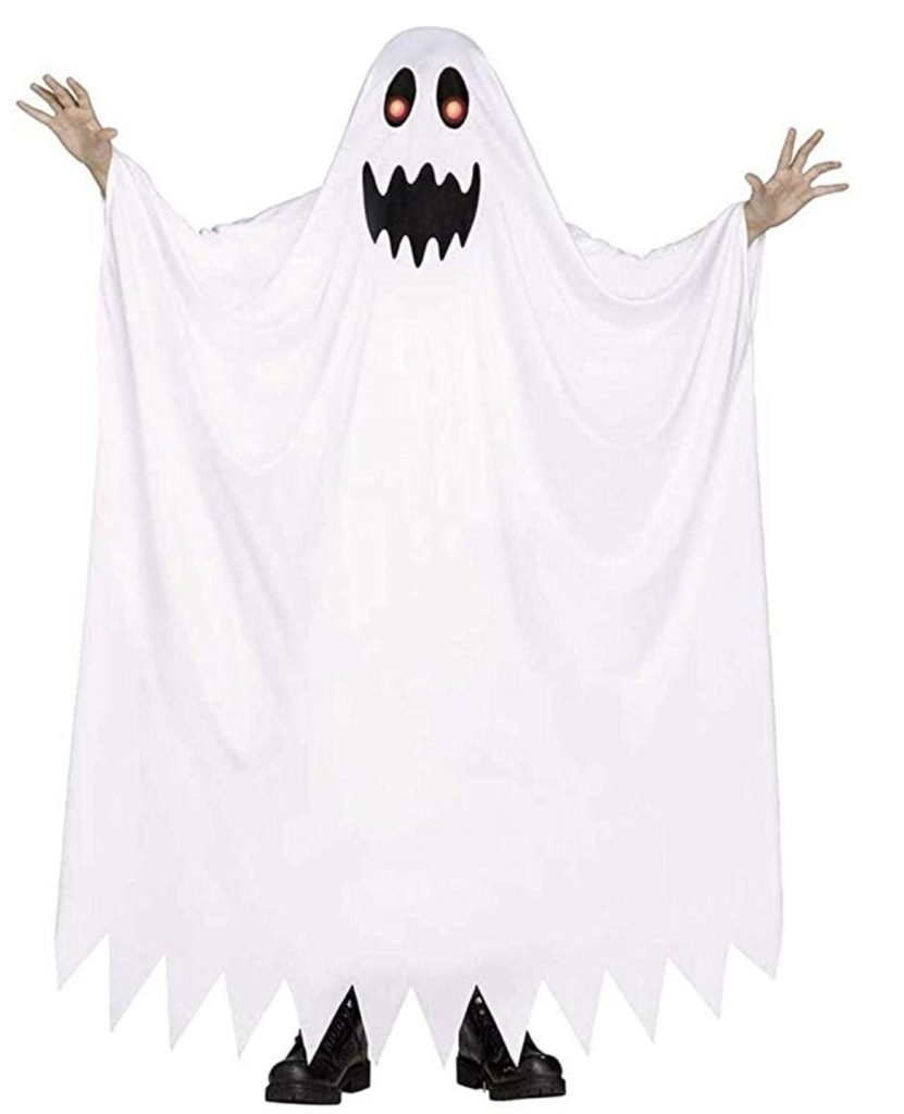 glow in the dark ghost costume halloween
