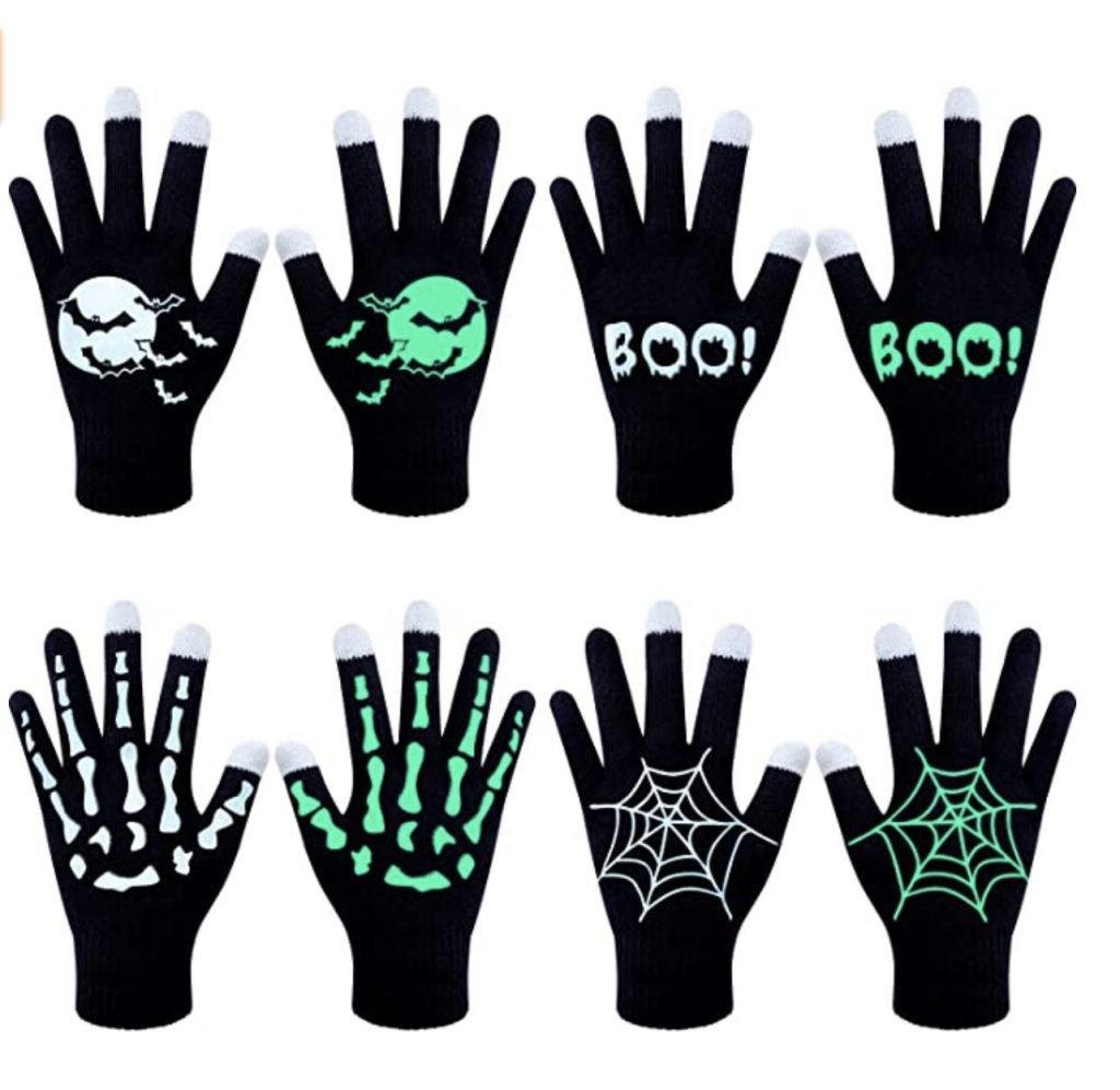 glow in the dark halloween gloves