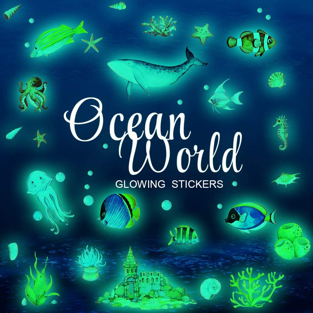 glow in the dark ocean stickers 1