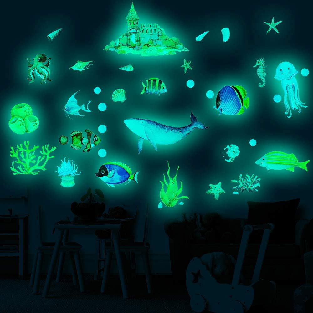 glow in the dark ocean stickers 3