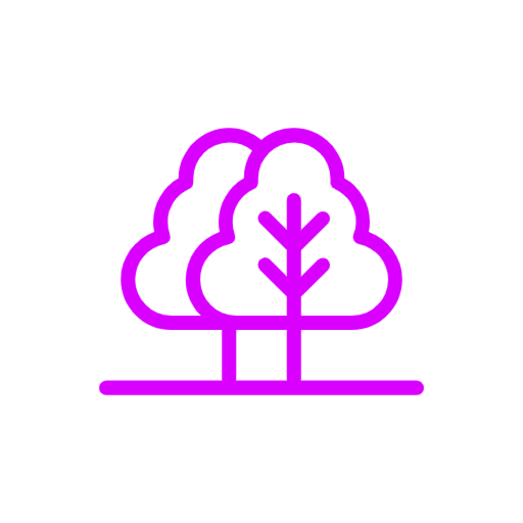 glow in the dark trees icon