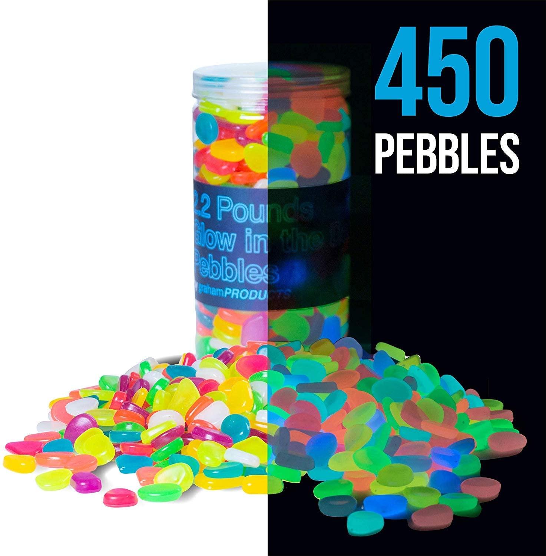 multicolor glow in the dark pebbles 1