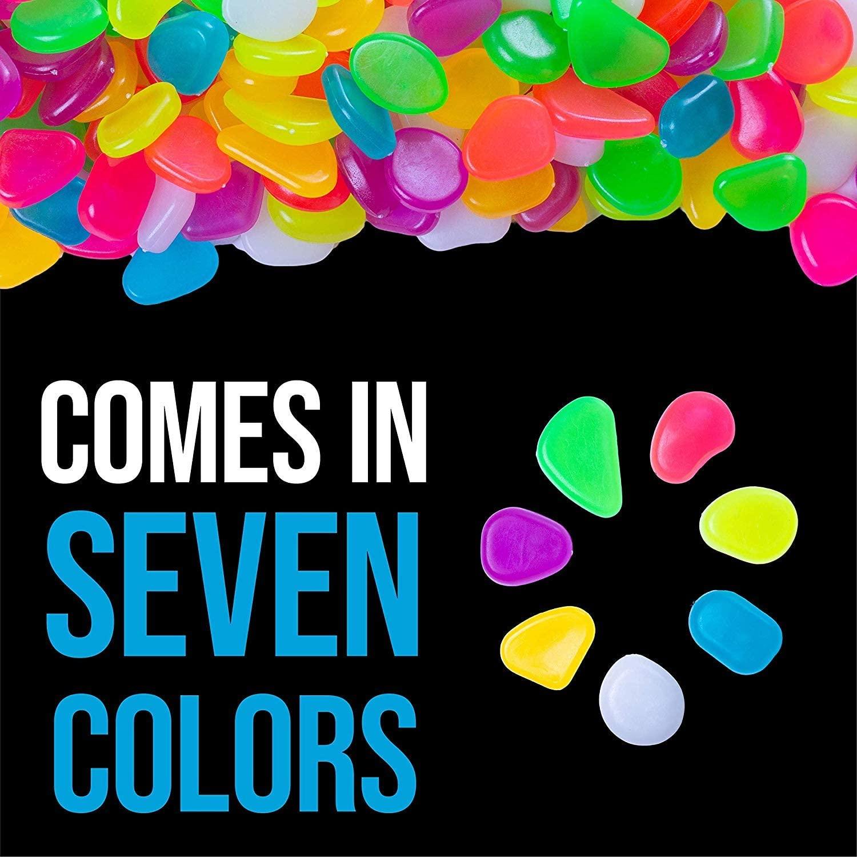 multicolor glow in the dark pebbles 2