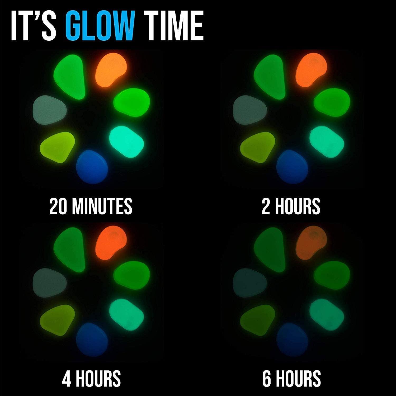multicolor glow in the dark pebbles 3