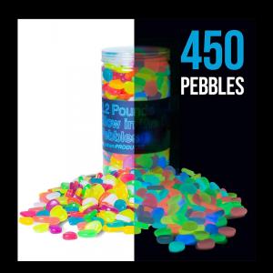 multicolor glow in the dark pebbles