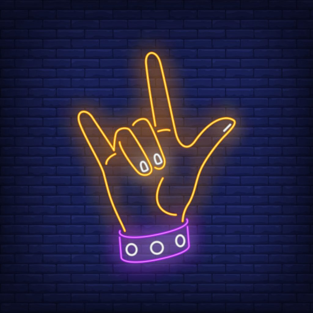 neon party hand