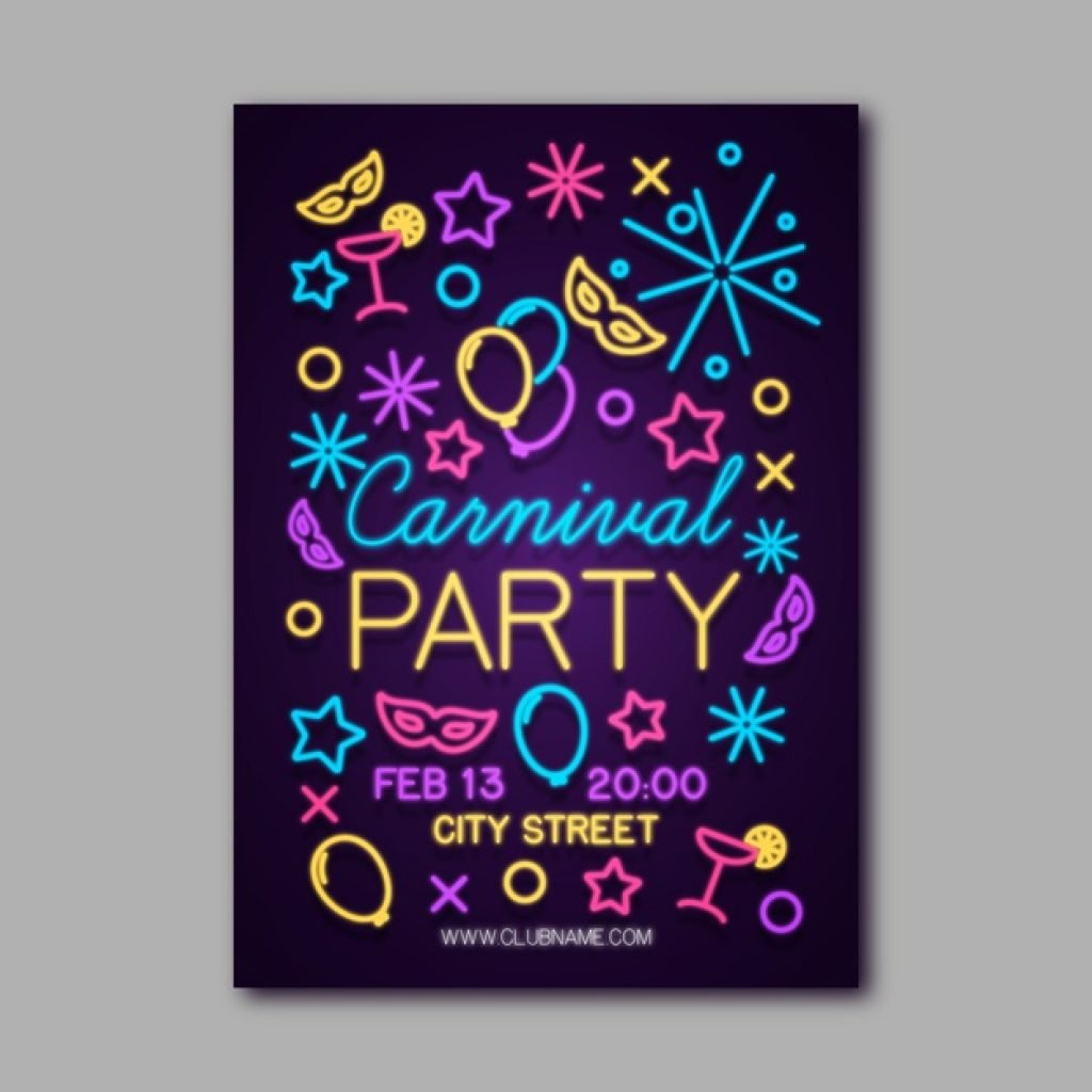 neon poster glow in the dark
