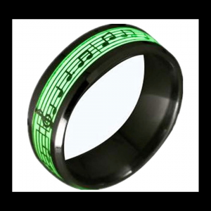 piano music notes ring