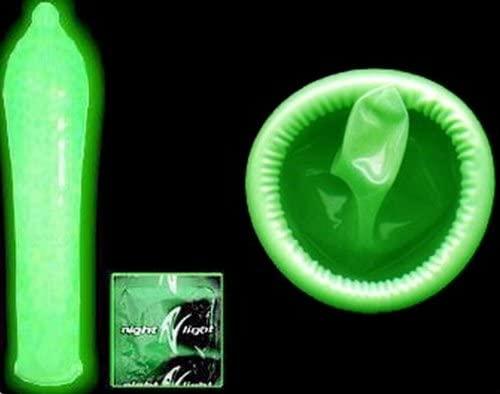 set of glowing latex condoms 3