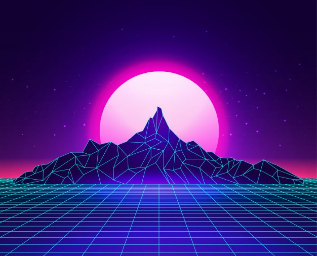 synthwave neon design
