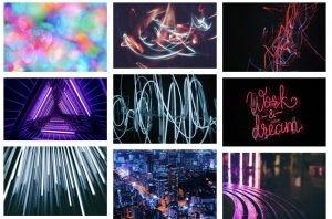 unsplash neon backgrounds