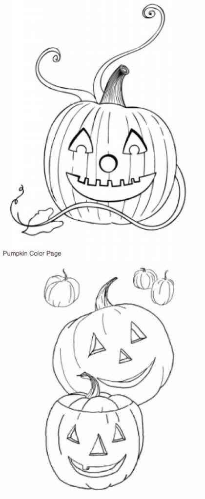 Best Coloring Pages for Kids pumpkins