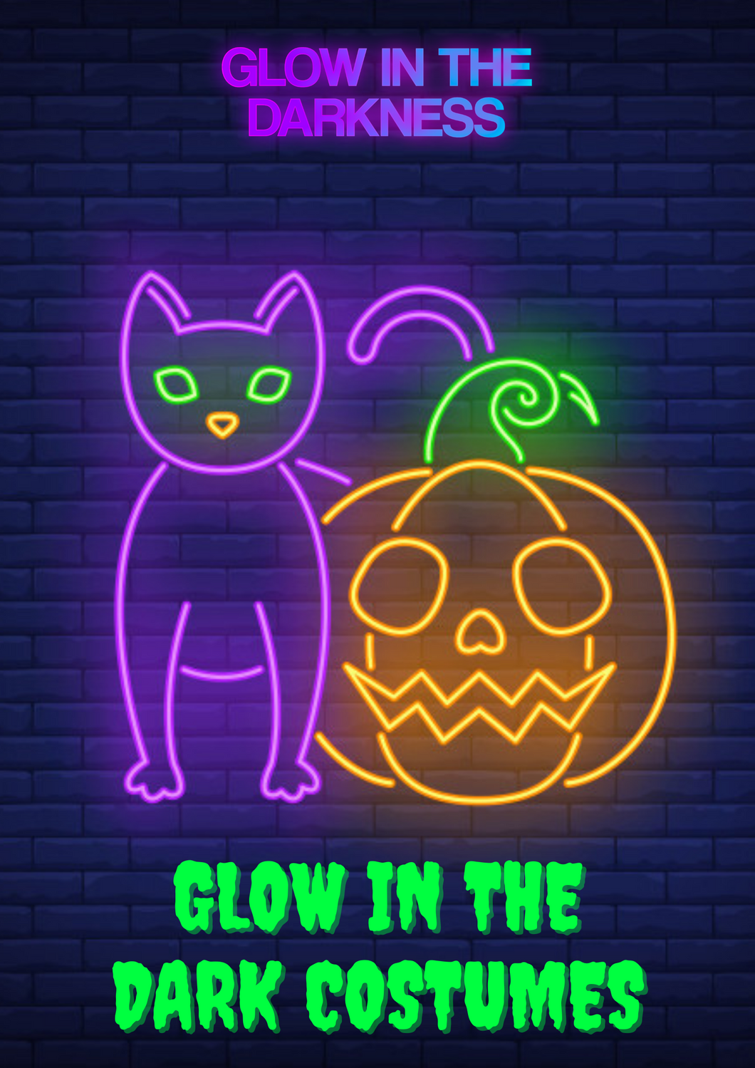 Glow In The Dark Halloween neon costumes