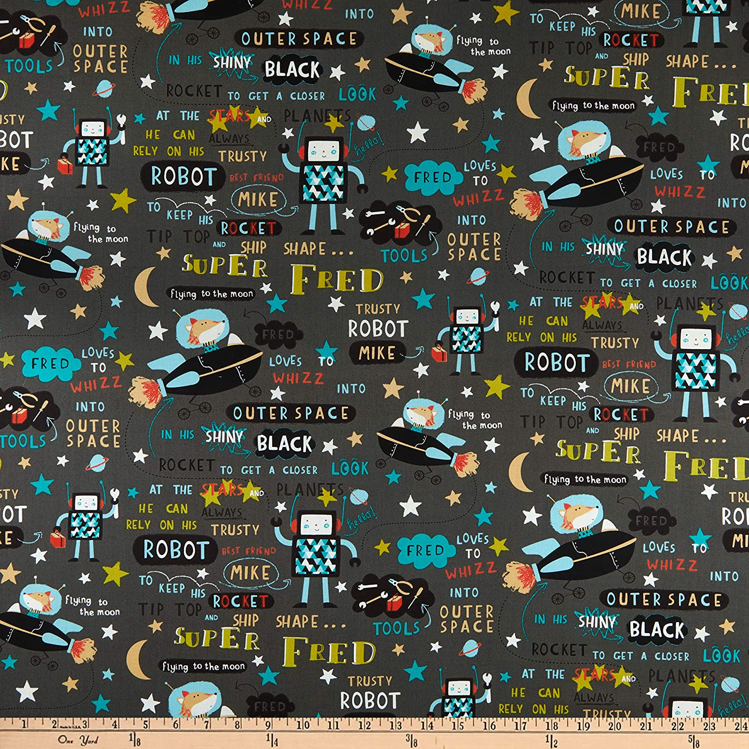 Super Fred quilt fabric 1