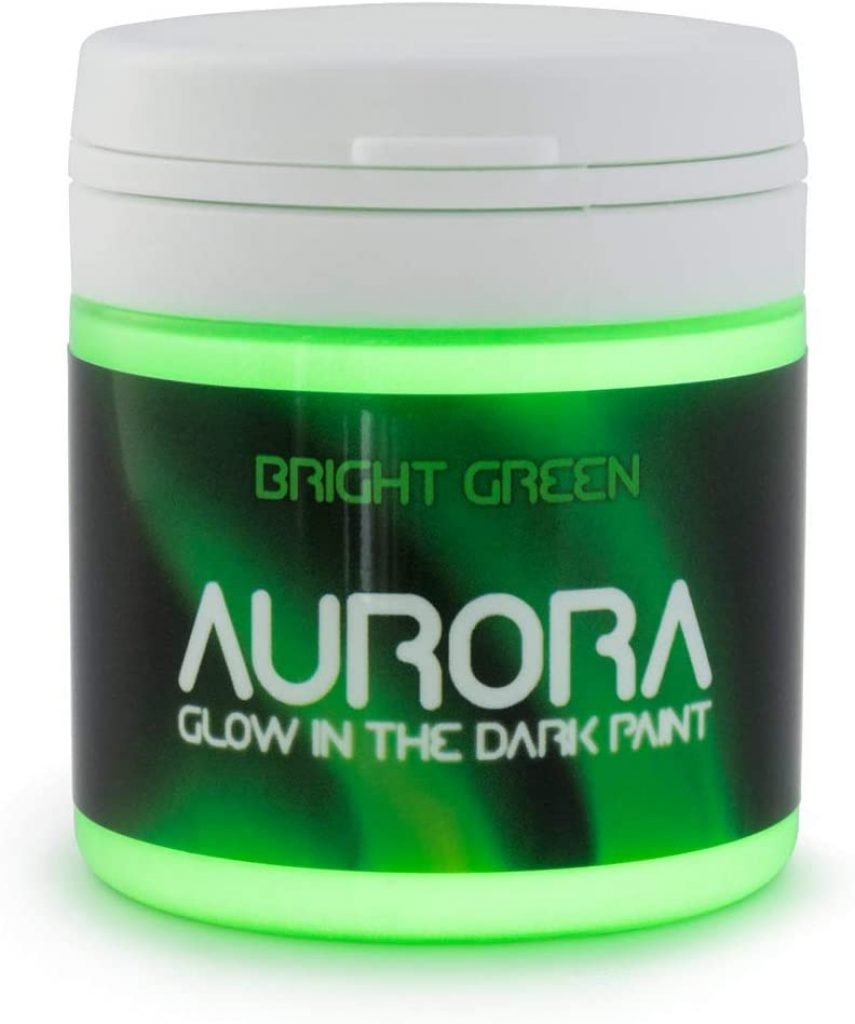 bright green acrylic glow in the dark paint for pumpkins