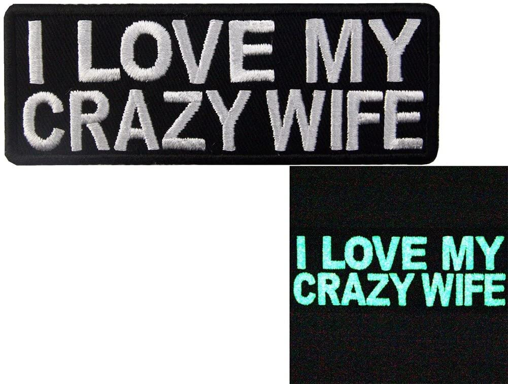 glow in the dark I love my crazy wife morale patch 1