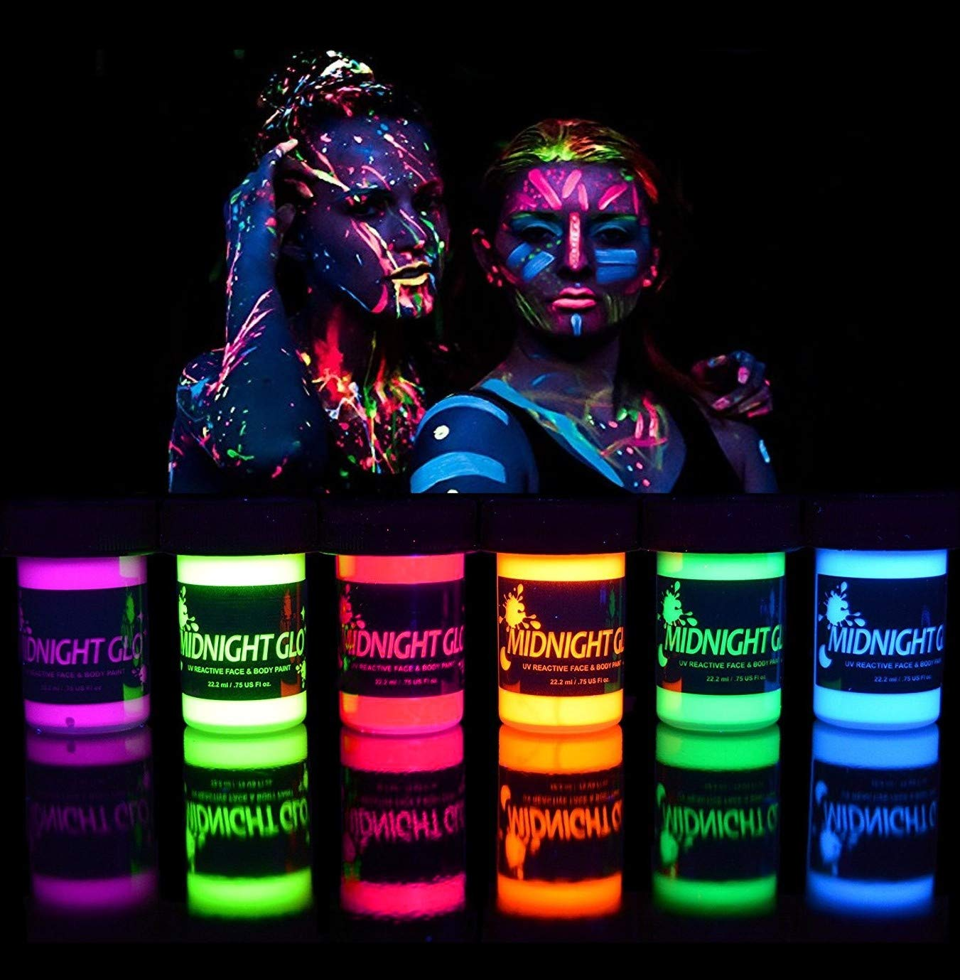 glow in the dark face and body paint 1