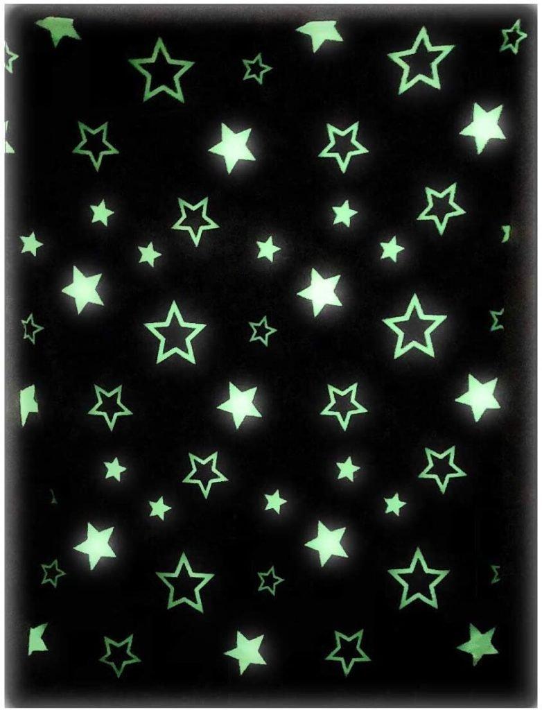 glow in the dark throw blanket bedroom