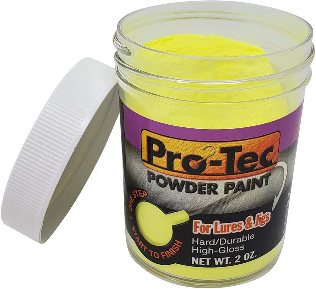 powder glow in the dark paint for fishing lures