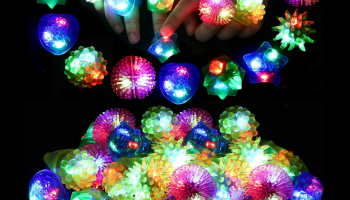 36-pack glow in the dark rings, Halloween party favors, full review