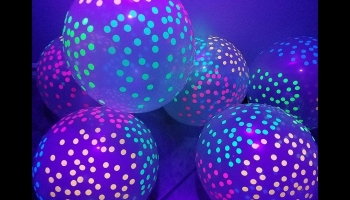 3Cats Blacklight Polka Dots Glow in the Dark Balloons, detailed review