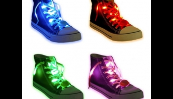 Acmee 6 Pairs LED Glow in the Dark Shoe Laces, detailed review