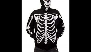 Calhoun glow in the dark Skeleton Zip Hoodie Jacket, detailed review
