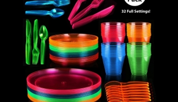 ChefCity Glow in the Dark Plates and party supplies, detailed review