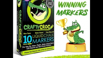 Crafty Croc Glow in the Dark Liquid Chalk Markers, detailed review